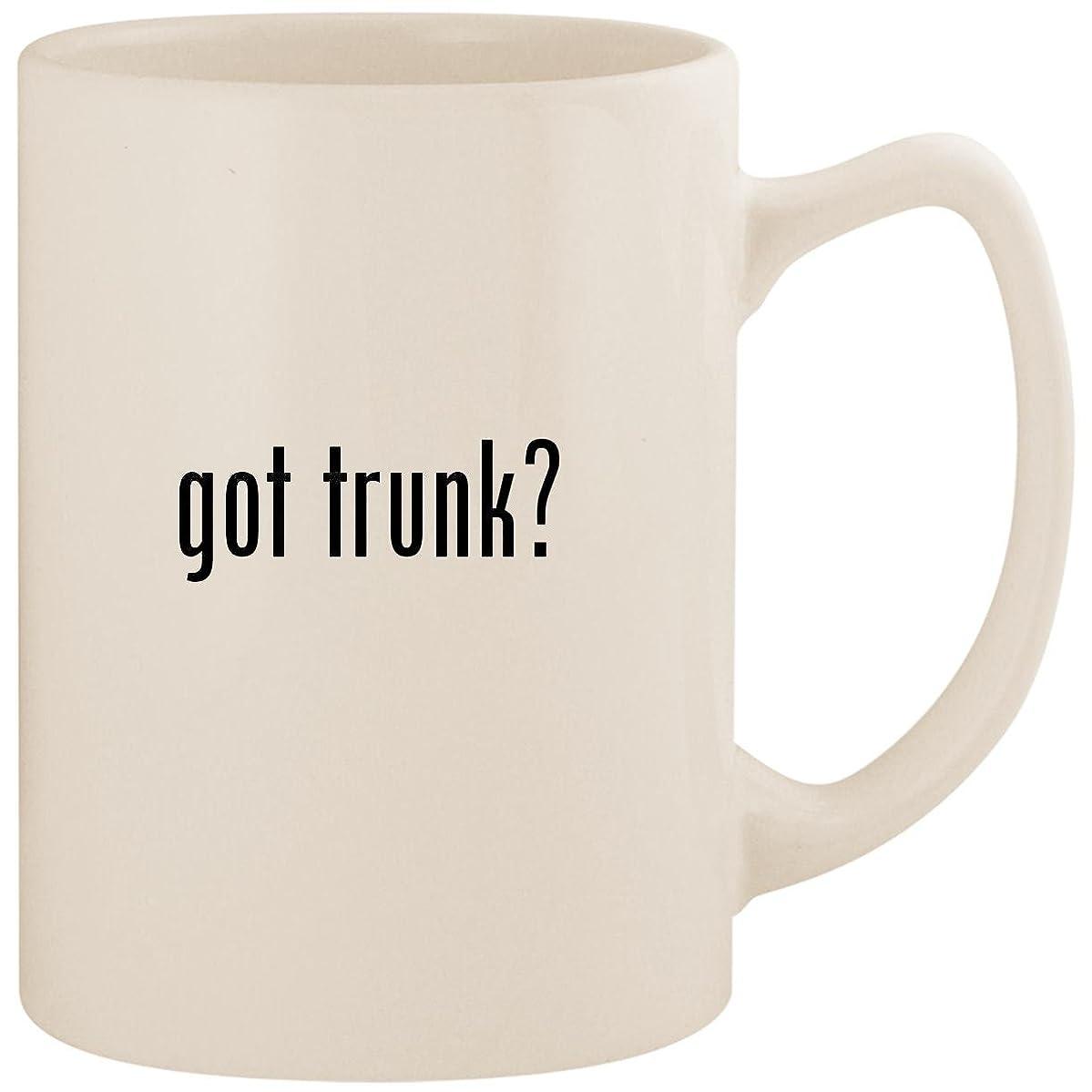 got trunk? - White 14oz Ceramic Statesman Coffee Mug Cup