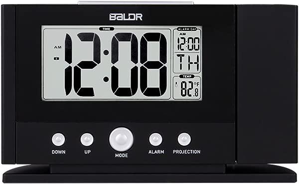 BALDR 升级版投影闹钟时间墙上投影仪天花板液晶显示屏打盹室内温度夜灯橙色背光