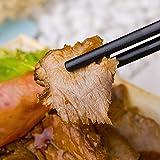 Annvchi EssStäbchen 10 Paar - Japanische Chopsticks Schwarz Stäbchen für Asiatisches Geschirr - 6