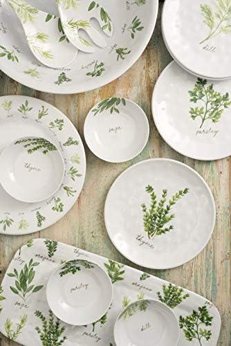 Epicurean Garden Herb 26.5cm Outdoor//Camping-Plastic//Melamine Dinner Plates x 2