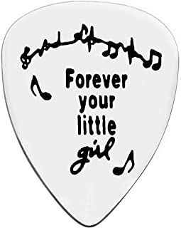 Guitar Picks, Dad Gifts for Father's Day Christmas Birthday, Stainless Steel Guitar Pick for Daddy Papa from Daughter Son,...