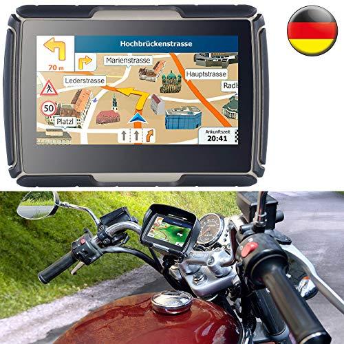 NavGear Navigationsgerät: TourMate N4, Motorrad-, Kfz- & Outdoor-Navi mit Deutschland (Navigationssystem)