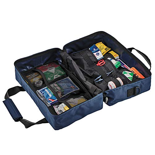 Ergodyne Arsenal 5220 Responder Trauma Bag, Blue with Class A First Aid Kit Supplies Included