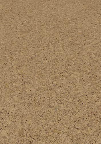 1 m² Korkfußboden zum kleben, Korkboden Struktur grob, Klebekork vorversiegelt und vorgeleimt, Designkork zum kleben, Fußboden aus Kork zum kleben - Columba natur