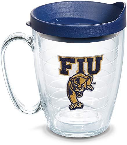 Tervis FIU Panthers Logo Tumbler with Emblem and Navy Lid 16oz Mug, Clear