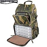 Spro Back Pack Camouflage - Angelrucksack zum Spinnfischen, Rucksack für Angler, Angeltasche, Kunstködertasche, Tackletasche