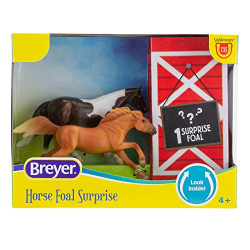 """Breyer Horses Stablemates Mystery Horse Foal Surprise   Open and Find The Surprise Foal   3 Horse Set   Horse Toy   Horse Figurines   3.75"""" x 2.5""""   1:32 Scale   Model #6222"""