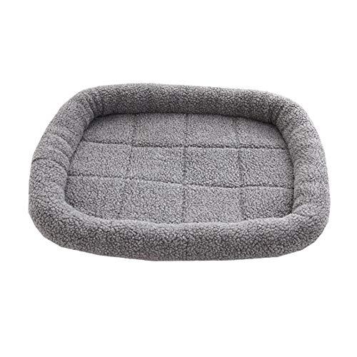 ASR Lambswool Pet Bed, Non-Slip Pet Bed for Cat, Dog, Rabbit, Hamster, Indoor Outdoor Pet Sleeping Bed, Grey, Khaki, Blue (S(50 x 40 cm), C)