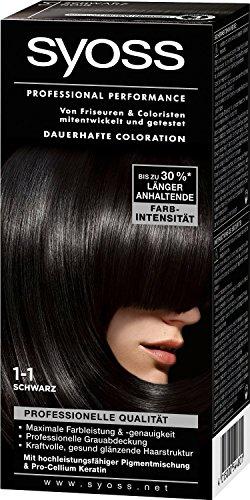 Syoss Coloration Professional Performance, 1–1 Noir, Lot de 5 (5 x 1 pièces)