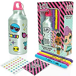 Colour in your own unique LOL Surpise Water Bottle with this great creative craft set. Includes 4 colour marker pens and gemstone stickers to bling up you're bottle. Includes BONUS surprise gift packet - what surprise gift will you get? Our high qual...