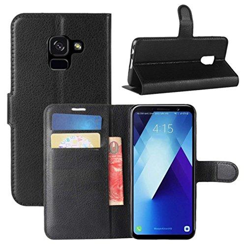Capa Carteira Samsung Galaxy A8 2018 (Preto)