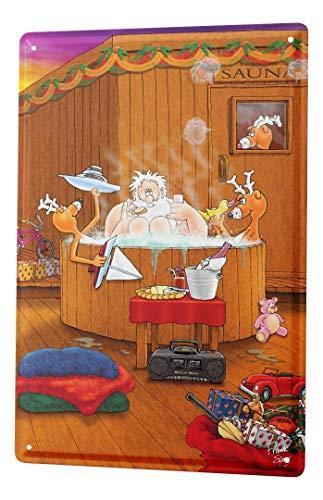 LEotiE SINCE 2004 Blechschild Dekoschild Küche Garage Weihnachten Sauna