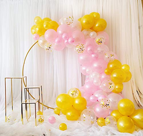 120 Pcs Balloon Garland Kit , Balloon Arch Kit with Extra Balloons Assembly tools For Happy Birthday Decorations and Baby Shower Decorations By SPARKLE EVENTS