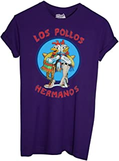 Film by Dress Your Style Uomo-L-Bianca MUSH Canotta Los Pollos Hermanos Breaking Bad