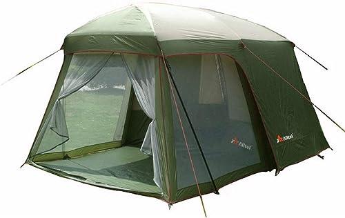 Tent Jun extérieure 5-8 Personnes Double Couche de Camping sur la Plage de Haute qualité imperméable Famille auvent pour Le Camping