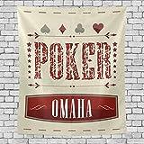 AEMAPE Omaha Poker Game - Tapiz de Pared Vertical para Dormitorio con Fondo...
