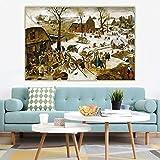 Pieter Bruegel II'El censo en Belén' Lienzo clásico Pintura al óleo réplica Imagen Telón de fondo de pared Decoración Decoración para el hogar 60x90cm Sin marco