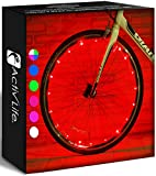 Activ Life Bicycle Tire Lights (2 Wheels, Red) Hot LED Bday Gift Ideas & Presents for Easter - Popular Friday Black and Monday Cyber Special Sale for Him or Her - Men, Women, Kids & Fun Teens