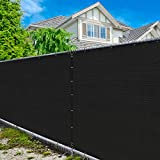 Amgo 5' x 50' Black Fence Privacy Screen...