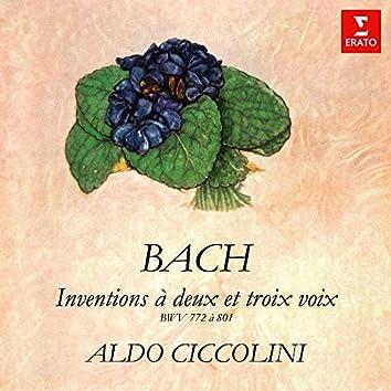Bach: Inventions et sinfonies à deux et trois voix, BWV 772 - 801