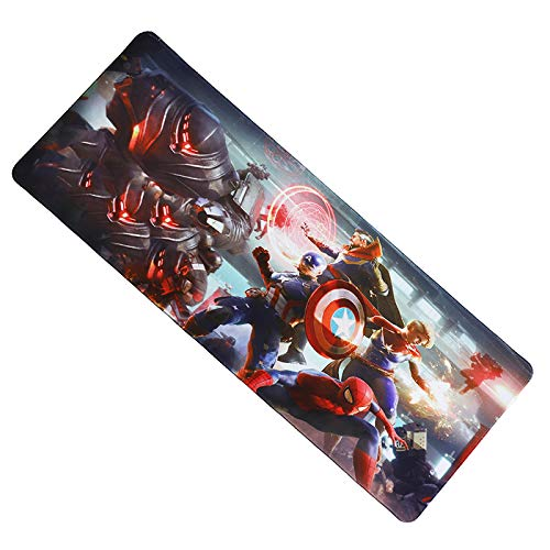 Fzaqua Extended Gaming Mouse Pad-Rubber Base with Anti-Fray Cloth Speed Soft Gamer Mouse Pad 31.5Lx11.8Wx0.12H (Marvel)