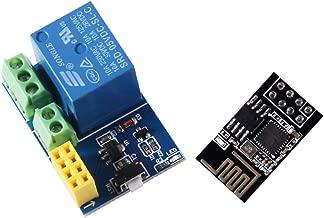 ESP8266 ESP-01 Wireless WiFi Transceiver Receiver Module Adapter Module with Relay Module for Arduino UNO R3 Mega2560 Nano Raspberry Pi Smart Home Remote Control Unlock Set