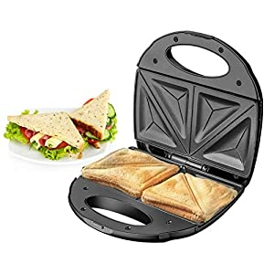 Belaco Sandwich Maker 2 Slice Sandwich Toaster Machine Non-Stick Easy Clean 750W Triangle Cooking, Non-Stick Coating Plate