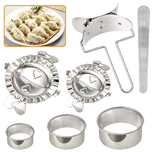 Set di 7 stampi per gnocchi e gnocchi in acciaio inox (3 ×...