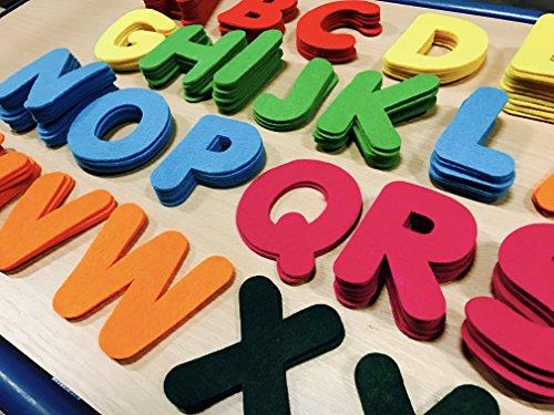 BUSDUGA Filzbuchstaben ABC - 150 Stück, 3mm Dick und 8cm Hoch