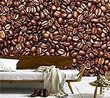 Blovsmile Murales 3d personalizados fondos de pantalla de granos de café, restaurante cocina sala de estar tv sofá pared dormitorio A-350X280cm(WxH)