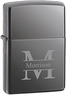 Personalized Genuine Zippo Black Ice Lighter - Stamped