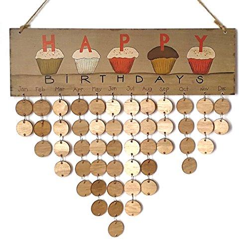 ROSENICE Calendario de cumpleaños eterno, DIY, regalo para casa, fiesta, decoración