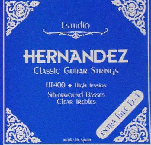 Hernandez HT400 Konzertgitarre High Tension Saiten-Satz + Extra D4 Saite