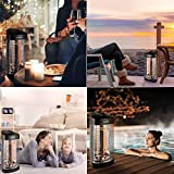 Geek Heat Patio Infrared Heater, Oscillation Portable Electric Heater, Water Resistant Space Heater for Bathroom Outdoor and Indoor Use, Tower Heater with Tip-Over and Overheat Protection