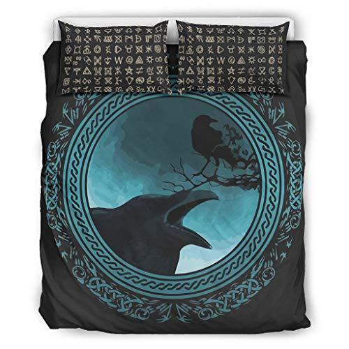 Juego de ropa de cama Viking de 3 piezas – Juego de cama king de 3 piezas, color blanco 66 x 90 pulgadas