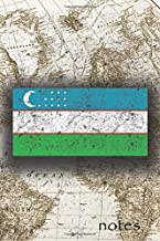 Notes: Beautiful Flag Of Uzbekistan Lined Journal Or Notebook, Great Gift For People Who Love To Travel, Perfect For Work Or School Notes