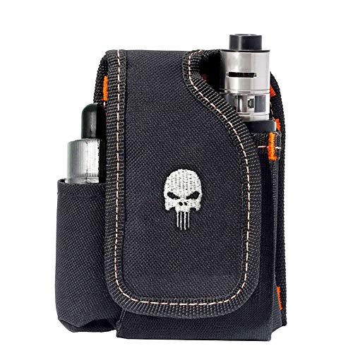 Vape Mod Carrying Bag, Vapor Case For Box Mod, Tank, E-juice, Battery - Best Vape Portable Travel to Keep Your Vape Accessories Organized [CASE ONLY] (Skull)
