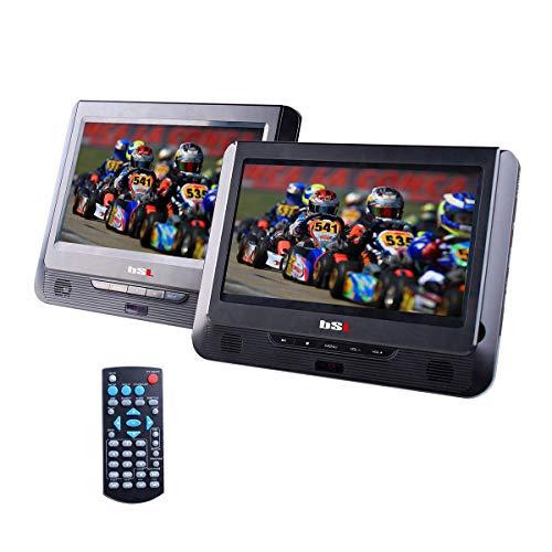 Reproductor DVD Dual de 9 Pulgadas portátil para Coche DVD92D | Doble Pantalla | Reproductor de Archivos Multimedia| CD, DVD, USB, SD | batería incorporada |