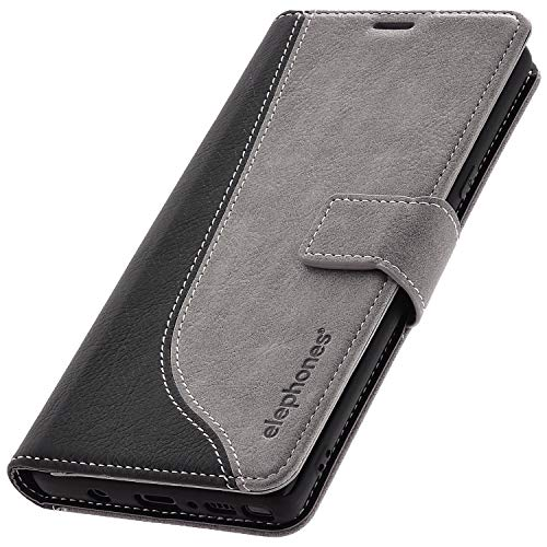 elephones Schutzhülle kompatibel mit Samsung Galaxy Note 9 Hülle Handyhülle Handy-Tasche Wallet Case Cover Grau