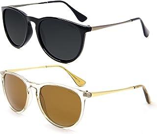 عینک آفتابی قطبی زنانه ANDOILT مردانه مردانه UV UV Retro Round Mirrorred Lens