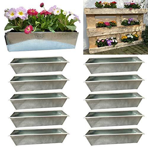 Set fioriera da balcone inserto adatto per piante europee per fiori, erbe e frutti 38 cm Set da 10