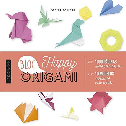 Origami Bloc Happy (Larousse - Libros Ilustrados/ Prácticos - Ocio Y Naturaleza...