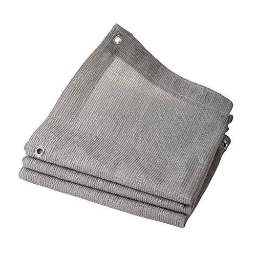 GWZSX Sonnenschutznetz Verschlüsselung Mit Ösen Schattiernetz UV-Schutz Grau Schattennetz Für Gewächshaus Blumen Grünes Pflanzen-Vordach-2x3m Grau