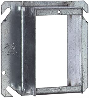 Steel City 52C50-1-1/2-25 Outlet Box Tile Wall Cover, Square, Raised, 4-Inch, Galvanized, 25-Pack