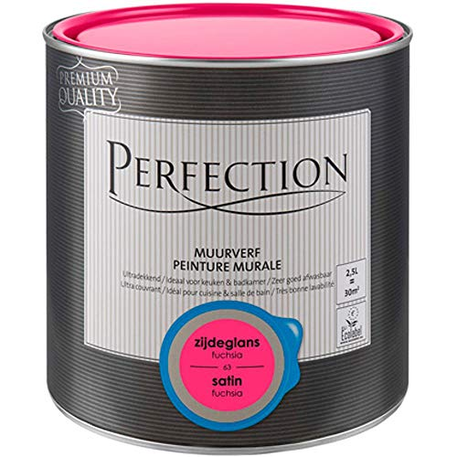 Perfection Einanstrich - Innenwandfarbe - Satin - 63 Fuchsia - 2,5L - 30m²