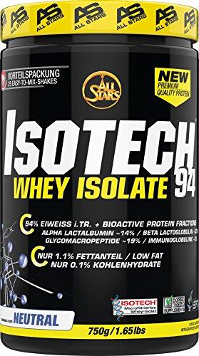 All Stars Isotech Whey-Isolat, Neutral, 1er Pack (1 x 750 g)