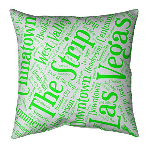 ArtVerse Katelyn Smith 18 x 18 Faux Suede Double Sided Print with Concealed Zipper /& Insert Nevada Love Pillow