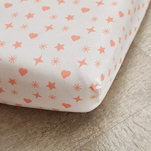 Uozzi Bedding Pink Fitted Sheet Baby Crib Size