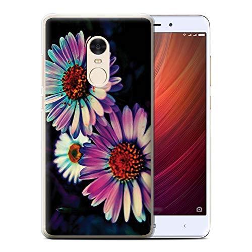 eSwish - Carcasa para teléfono móvil, diseño de Colores neón Fleur Marguerite Florale Xiaomi Redmi Note 4