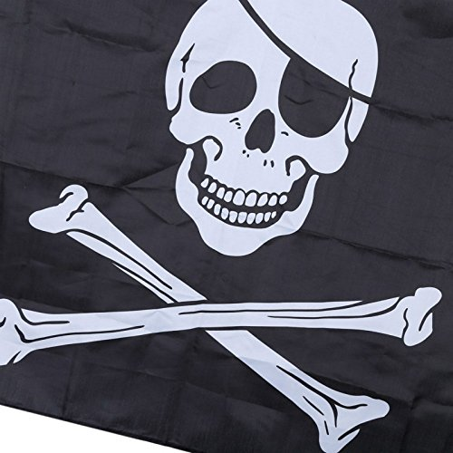 Nikgic Negro personalisierte Decorativa Bander/ín Bandera Pirata Fiesta de Cumplea/ños Decoraci/ón Bandera Tema Fiesta Decoraci/ón